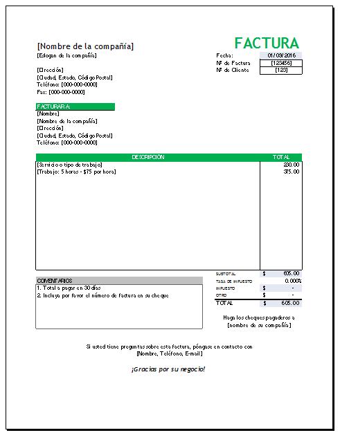 formato para factura en excel juve cenitdelacabrera co