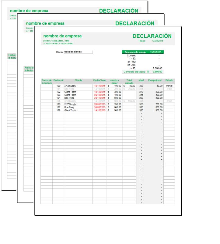 Formato de seguimiento de facturas – Plantillas Gratis