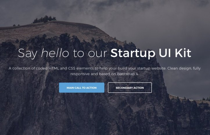 Las plantillas de Bootstrap 4 más prometedoras para 2018 ...