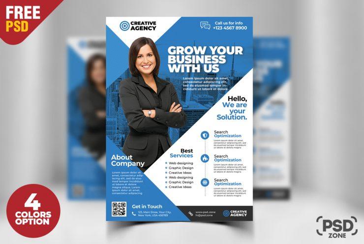 Flyer PSD Corporativo Set Gratis – Plantillas Gratis