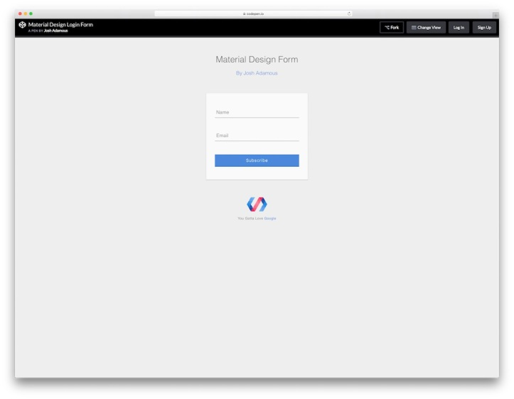 material-design-login-form