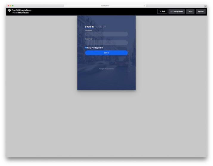 transparent-login-form