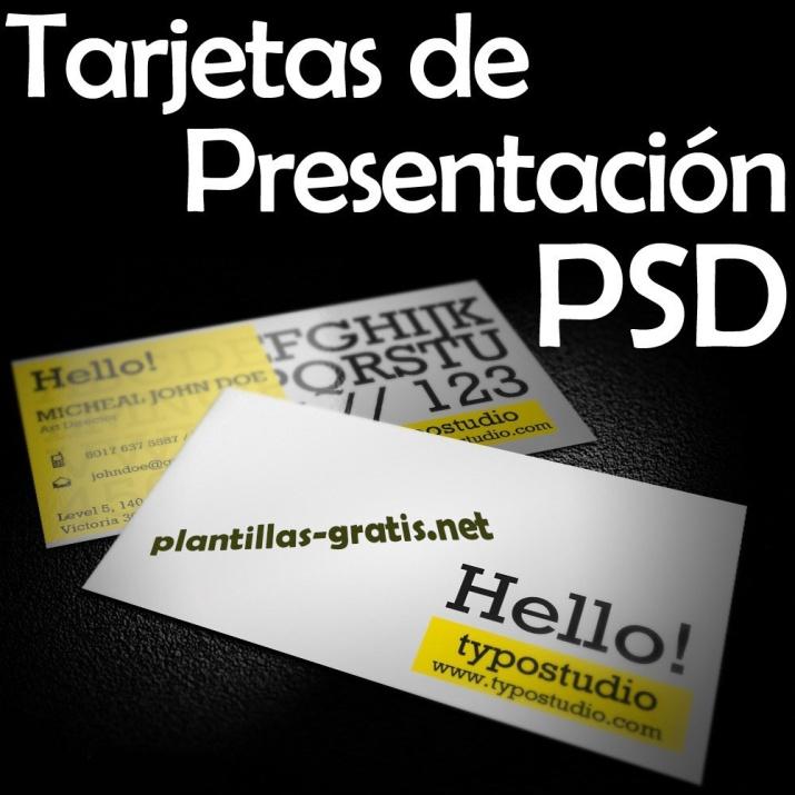 20 plantillas gratuitas en formato PSD para crear tarjetas de presentación